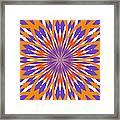Orange And Purple Kaleidoscope Framed Print