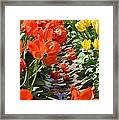 Orange And Yellow Tulips Framed Print