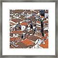 Orange Roofs Framed Print