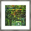 Oranges And Lemons On A Green Trellis Framed Print