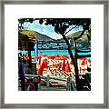 Orient Beach Peek Framed Print
