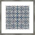 Orient Blue And White Interlude Framed Print