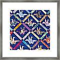 Origami Quilt Wall Art Prints Framed Print