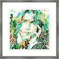 Oscar Wilde Watercolor Portrait.2 Framed Print by Fabrizio Cassetta