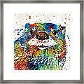 Otter Art - Ottertude - By Sharon Cummings Framed Print