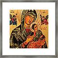 Our Lady Of Perpetual Help Icon II Framed Print by Ryszard Sleczka