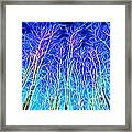 Out Doors In Blue Framed Print