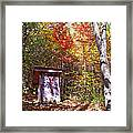 Out House In The Fall Framed Print