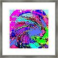Out Of The Blue Wave Abstract Framed Print