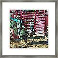Out The Chute Framed Print