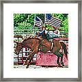 Out The Gate Framed Print