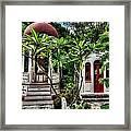 Outdoor Chapel In Gustavia  Framed Print