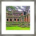 Outer Building Of Angkor Wat In Angkor Wat Archeological Park Near Siem Reap-cambodia  Framed Print