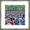 Overlooking The Asheville Drum Circle Framed Print