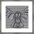 Owl In Flight Pattern Framed Print