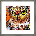 Owl With An Attitude Framed Print