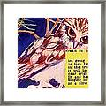 Owls In The Trees Framed Print