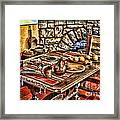 Padre's Table By Diana Sainz Framed Print
