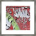 Paint Abstract Framed Print