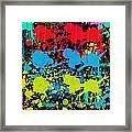 Paint Splatter - Black Framed Print