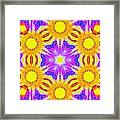 Painted Cymatics 161.66hz Framed Print