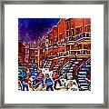 Paintings Of Montreal Hockey On Du Bullion Street Framed Print