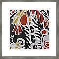 Palm Tree With Two Keg Of Palm Wine.  Framed Print