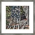 Papa Sandy's Storage Shed Framed Print by James Woody