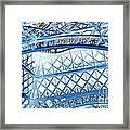 Paris Design In Blue Framed Print