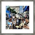 Parisian Cafe Framed Print