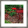 Parked Red Bicycle Framed Print