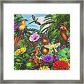 Parrot Jungle Framed Print