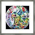 Parrot Plate  Framed Print by Martha Nelson