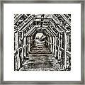 Partington Cove Tunnel By Diana Sainz Framed Print