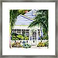 Pass-a-grille Cottage Watercolor Framed Print