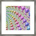 Pastel Drizzle Framed Print