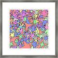 Pastel Stars Framed Print