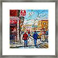 Pastry Shop And Tea Room Framed Print