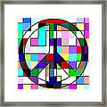 Patch Peace Framed Print