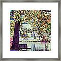 Patches Of Color Framed Print