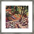Path To The Cascades Framed Print