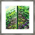 Path To The Unknown Diptych In Green Framed Print