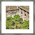Patio De Los Naranjos Of Seville Cathedral Framed Print