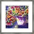 Patio Pansies Framed Print