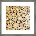 Pattern Of The Wood Pieces Framed Print