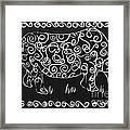 Patterned Rhino Framed Print