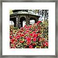 Pavilion And Azaleas  Framed Print