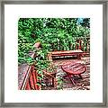 Peace Nature And Geometry Framed Print