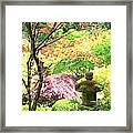 Peaceful Japanese Garden Framed Print