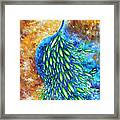 Peacock Abstract Bird Original Painting In Bloom By Madart Framed Print